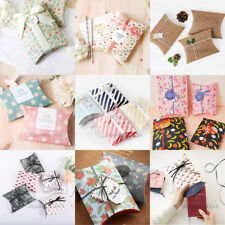 5-50X New Ins Style Pillow Bustina Wedding Party Paper Favour Sweet Gift Boxes