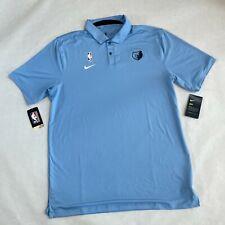NWT Nike NBA Memphis Grizzlies Team Player Issued Polo Shirt Top Blue XL
