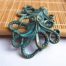 10pcs Antique Bronze Patina Octopus Connector Charms Pendant
