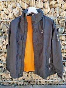 Icepeak Herren Regenjacke Kapuzenjacke Jacke Gr. XL 54 - wie neu schwarz orange