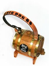Saint Bernard Big Ass Dog Keg Barrel Personalized Collar St Whiskey Brandy Beer