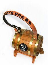 Saint Bernard Big Ass Dog Keg Barrel Personalized Collar St Whiskey Brandy Beer