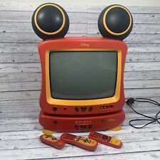 Disney Vintage Mickey Mouse Tv And Dvd Player Combo VTG Colour Television HTF