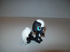 Littlest Pet Shop~#85~Skunk Squirrel~Black White Pink Nose~Blue Eyes~Red Magnet