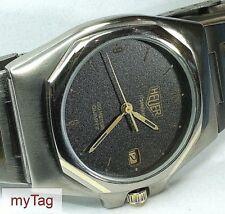 HEUER Titanium/Gold Midsize 1980's Quartz Watch Rare  825.213