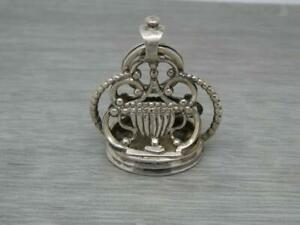 Rare Large Antique Early 19th century German 800 Silver Wax Seal Fob & Split