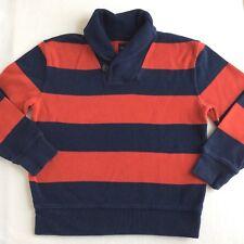 Boys Gap Kids Sz 8 Navy Red Stripe Sweater Awesome! Holiday shawl collar