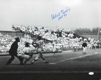 Orlando Cepeda HOF Autographed Giants 16x20 B&W Photo- JSA W Authenticated