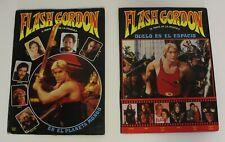 1981 FLASH GORDON 2 x MOVIE POP UP BOOKS (FULL SET) Amazing Spanish vintage VHTF