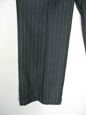 ROBELL Elise Tailored Trousers Size 46 Regular UK 18 Navy Blue Pinstripe Work