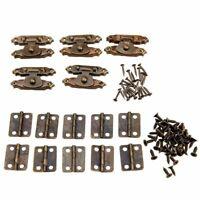 5 Stücke Antike Bronze Antike Schrank Tür Riegel Haspe Dekorative mit 10 St 2I