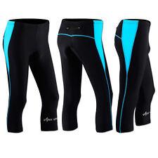 Women Cycling Tights 3/4 Shorts Padded Ladies Leggings COOL Max Anti Bac Pad