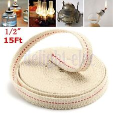Flat Cotton Oil Lamp Lantern Wick 13mm 4.5m For Kerosene Burner Lighting DE