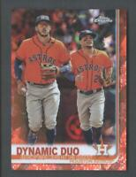 2019 Topps Chrome Sapphire Baseball Orange #294 Dynamic Duo Correa/Altuve 17/25