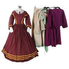 A Collection of Reenactment Civil War Day Dresses & Hoop Skirt Cosplay