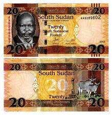 New listing South Sudan 20 Pounds Uncirculated, 2015