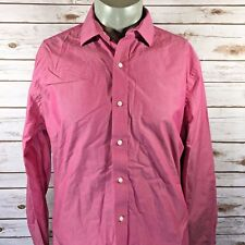 Tommy Hilfiger Mens Shirt Size 16 1/2 34-35 Pink Red Long Sleeve (A8)