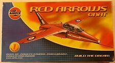 U.K. Folland Gnat T.1 Red Arrows, 1/72 Airfix kit 01036, 1989 Airplane Model Kit