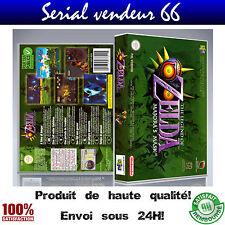 """Boitier, boite """"ZELDA MAJORA'S MASK """", nintendo 64, visuel PAL français. HD."""