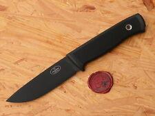 Fällkniven Jagdmesser das F-1BL mit Lederscheide u.schwarzer Klinge
