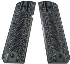 Custom 1911 Grips G10 Classic Checkered Magwell Ambi Bobtail Colt Gry-Blk