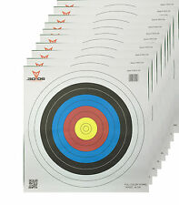 Paper Archery Target Full Colour 10 Ring 40cm 10 Pack
