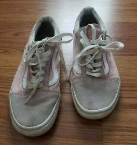 Vans Old Skool Classic Suede Skate Shoes Light Pink Rose 500714 Women's 7.5