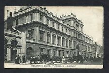View of Horse Drawn Taxis, Burlington House, Picadilly. Stamp/Postmark - 1910