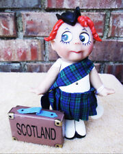 New 7 in Tiny Tummies Miniature Scotland Resin Doll Pat Kolesar Designer Guild