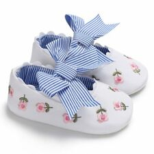 Girl Baby Shoes Soft Sole Multicolor Cotton Cloth Flowers Non-slip Bowknot Cute