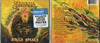 SANTANA AFRICA SPEAKS WALMART  EXCLUSIVE USA CD NEW SEALED + LTD EDITION POSTER