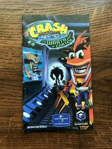 Crash Bandicoot Wrath of Cortex Nintendo Gamecube Instruction Manual Only