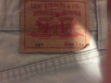 mens levi 551 jeans 30waist 34 leg but altered to31 leg beige in colour