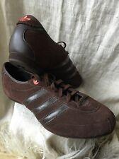 Adidas Suede Sneaker Brown Women 9 1/2 Athletic Suede Sleek Stylish Hip Hop