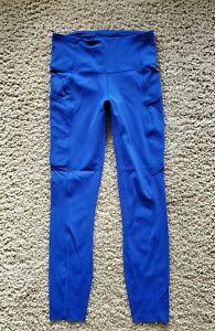 Lululemon Fast Free 7/8 Leggings Pants NR  Jet Stream Blue  Sz. 4   EUC!!