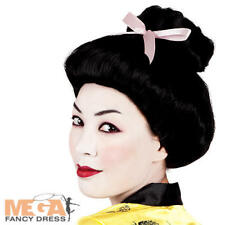 Geisha Wig Ladies Fancy Dress Oriental Japanese Asian Womens Costume Accessory
