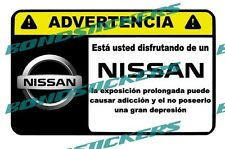 Vinilo impreso pegatina ADVERTENCIA NISSAN  RACING STICKER DECAL