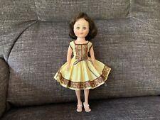 """American Character 10 1/2"""" Toni doll in original dress - played with - brunette"""