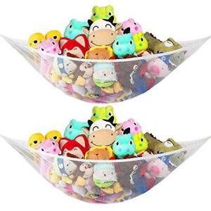 New 2Pack Jumbo Hammock Toy Net Organizer Stuffed Animals Kids Hanging/Bath Toys