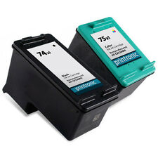 2 Pack HP 74XL 75XL Ink Cartridge OfficeJet J6413 J6415 J6424 J6450 J6480 J