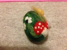 "Needle Felted Easter egg. Easter decoration. ""Toadstools in Sun""' - OOAK"