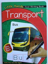 Little hands first writing book - transport  wipe clean book