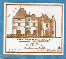 GRAVES 1ER GCC VIEILLE ETIQUETTE CHATEAU HAUT BRION 1980 75 CL RARE   §06/11§