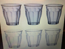Duralex Set of 6 Picardie Tumblers, 25cl Traditional French Glass Drinkware  NEW