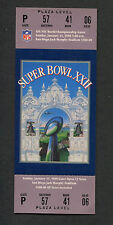 Super Bowl XXII full unused ticket Near Mint Redskins Broncos Doug Williams MVP