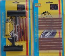 2x Kit de réparation Tubeless Crevaison meche Pneu Voiture Moto Outils+30 Mèches