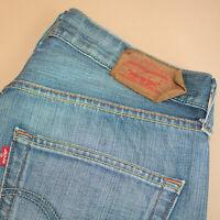 Levi 501 Jeans Straight Zip Fly Blue Vintage Unisex (PatchW32L32) W 31 L 32