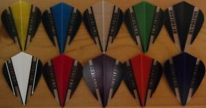 Ruthless V100 Dart Flights - 10 Colour Choices - Kite Shaped,1/3/5/10 Sets...