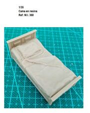 WWII Bed in resin diorama accessories cama forniture 1/35 muebles building ruins
