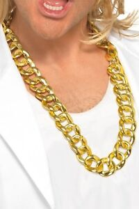 Thick Gold Chain Necklace Run DMC Hip Hop Rapper Pimp Rope Old School Bling Gift